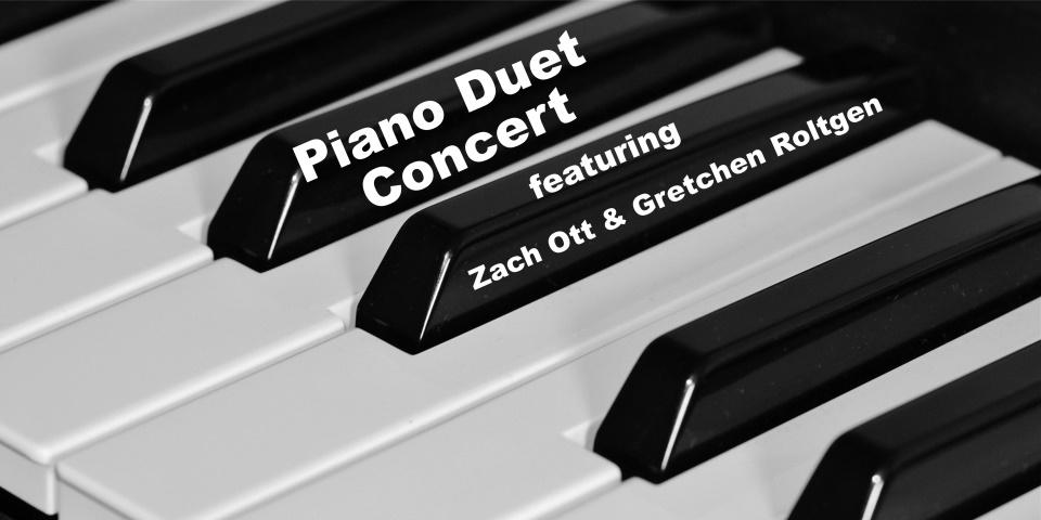 slide advertising Piano Duet Concert 10-21-21